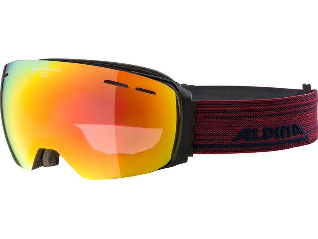 Alpina Granby QVMM Goggles black matt red spherical